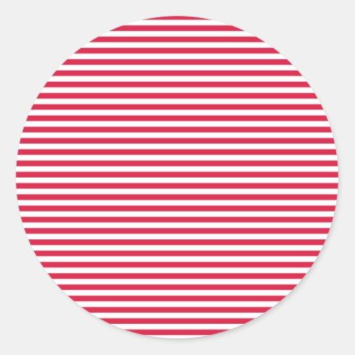 Stripes - White and Crimson Stickers