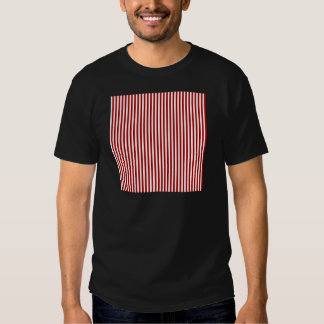 Stripes - White and Dark Candy Apple Red T-shirt