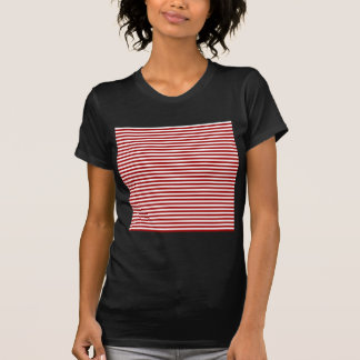 Stripes - White and Dark Candy Apple Red Tees