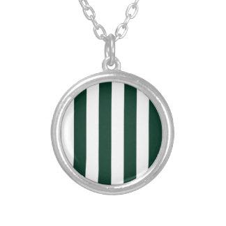 Stripes - White and Dark Green Jewelry