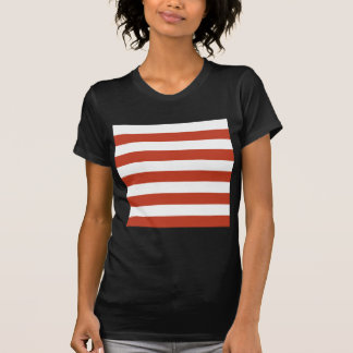 Stripes - White and Dark Pastel Red Shirt