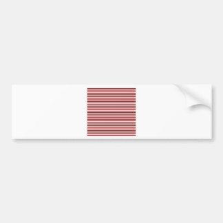 Stripes - White and Dark Red Bumper Stickers