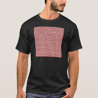 Stripes - White and Dark Red T-Shirt