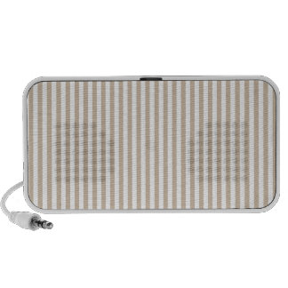 Stripes - White and Dark Vanilla Portable Speakers