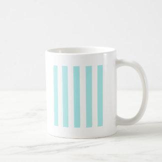 Stripes - White and Pale Blue Coffee Mug