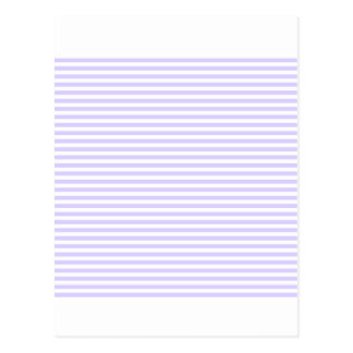 Stripes - White and Pale Lavender Postcard