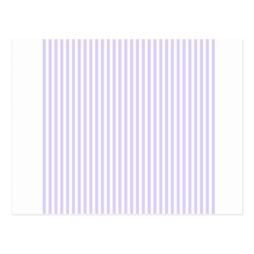 Stripes - White and Pale Lavender Post Card