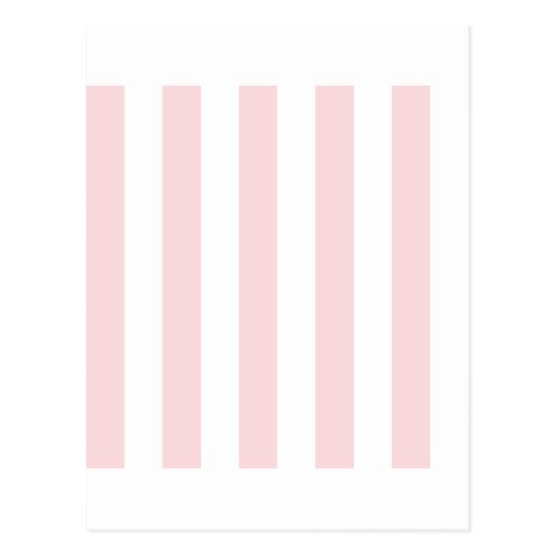 Stripes - White and Pale Pink Postcard