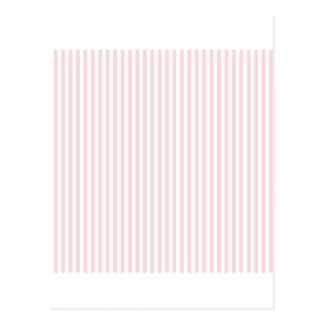 Stripes - White and Pale Pink Post Cards