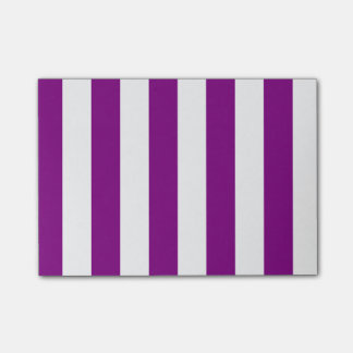 Stripes - White and Purple Post-it® Notes