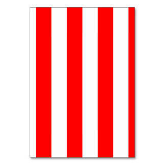 Stripes - White and Red Table Cards