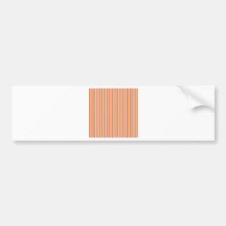 Stripes - White and Tangelo Bumper Sticker