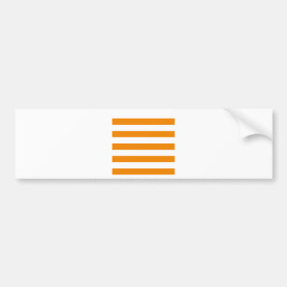 Stripes - White and Tangerine Bumper Sticker