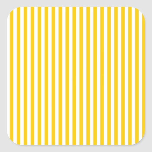 Stripes - White and Tangerine Yellow Stickers