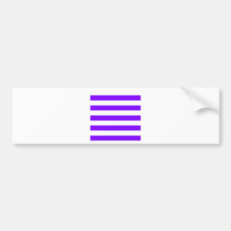 Stripes - White and Violet Bumper Stickers