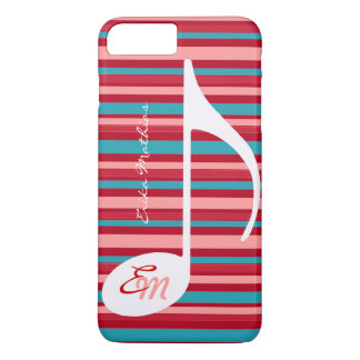 stripes with musical note iPhone 8 plus/7 plus case