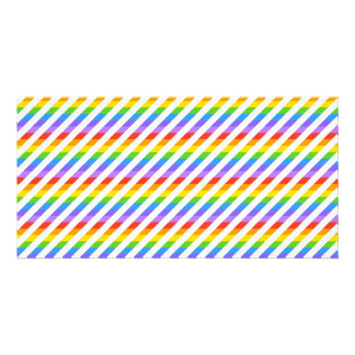Stripes with Rainbow Colors. Photo Card Template