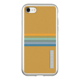 Stripes - Yellow Blue Lavender Olive Green Aqua Incipio DualPro Shine iPhone 8/7 Case
