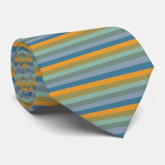 Stripes - Yellow Blue Lavender Olive Green Aqua Tie