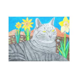 Stripey Cat In The San Bernardino Mountains Canvas