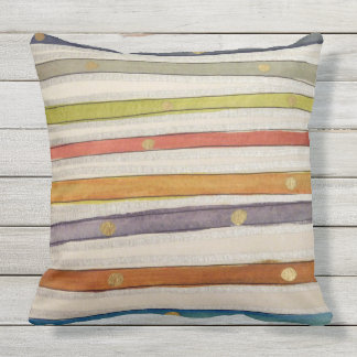 Stripey Watercolor-look Pillow Power