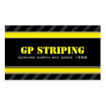 Striping Company Business Cards