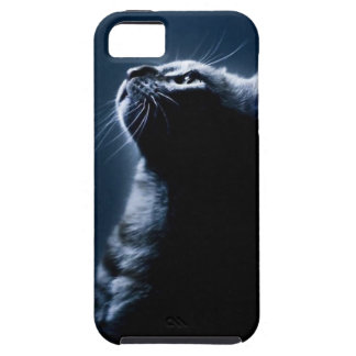 Stripped Cat in the Moonlight Tough iPhone 5 Case