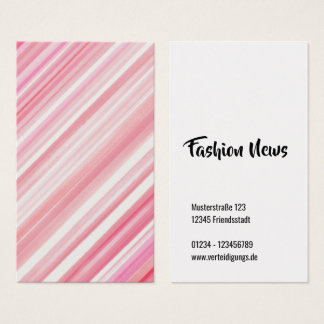 Stripped pink business card
