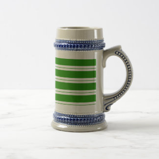 Strips - green and white beer stein