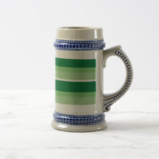 Strips - green. beer stein