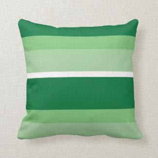 Strips - green. cushion