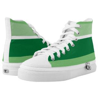 Strips - green. high tops