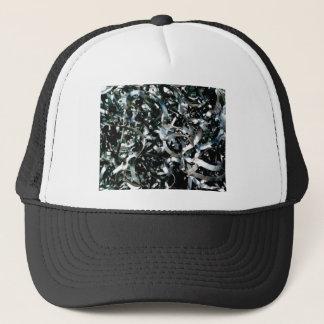 strips of garbage metal trucker hat