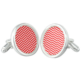 Strips - red and white cuff links