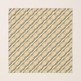 Stripy cream fashion scarf