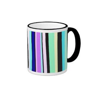 Stripy Design Ringer Coffee Mug