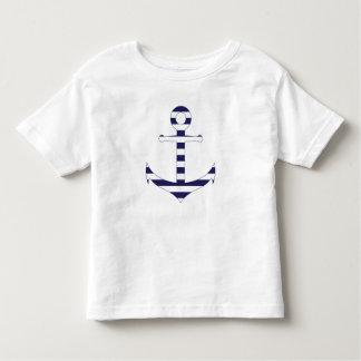 Stripy nautical anchor toddler T-Shirt