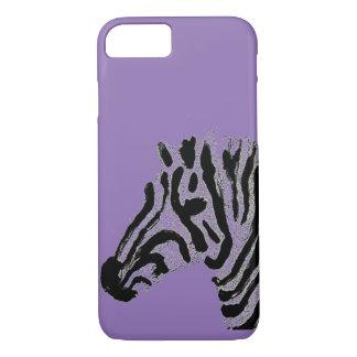 Stripy Zebra Head Art iPhone 7 Case