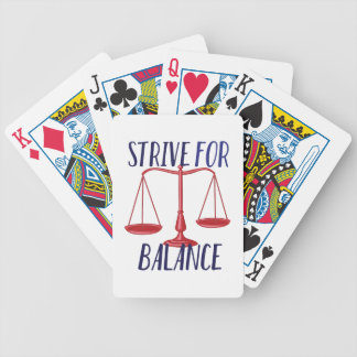 Strive For Balance Poker Deck