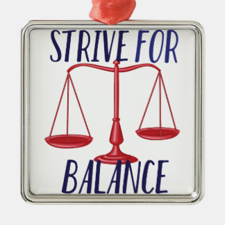Strive For Balance Silver-Colored Square Decoration