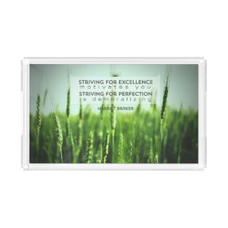 Striving For Excellence Acrylic Tray