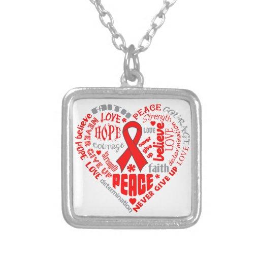 Stroke Awareness Heart Words Jewelry