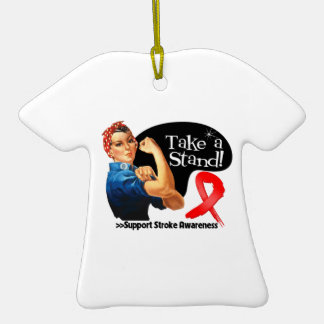 Stroke Awareness Take a Stand Ornaments