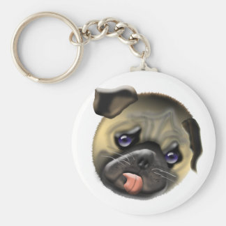 stroke my pug key ring