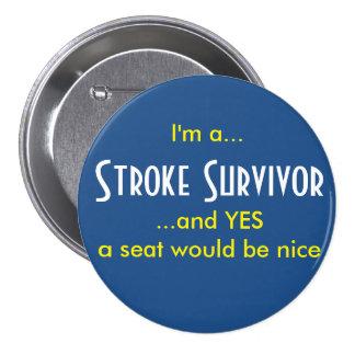 Stroke Survivor 7.5 Cm Round Badge