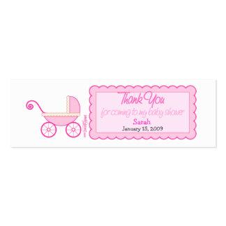 Stroller Baby Shower Favor Tag Pack Of Skinny Business Cards