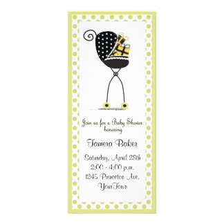 Stroller Baby Shower Personalized Invites