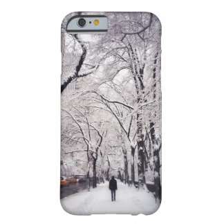 Strolling A Snowy City Sidewalk Barely There iPhone 6 Case