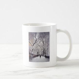 Strolling A Snowy City Sidewalk Coffee Mug