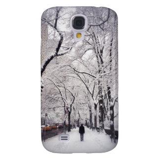 Strolling A Snowy City Sidewalk Galaxy S4 Cover